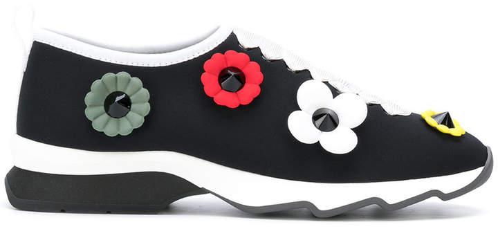 Fendi slip-on sneakers with flowers