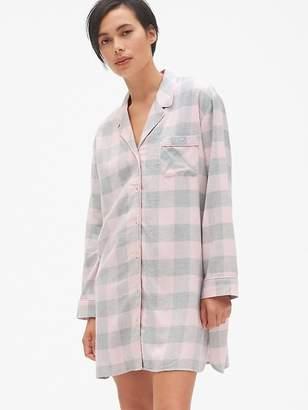 Gap Plaid Flannel Sleep Shirt