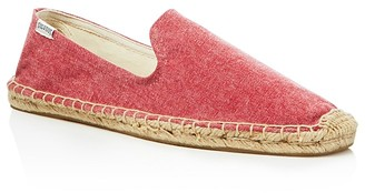 Soludos Men's Washed Canvas Smoking Slipper Espadrilles $55 thestylecure.com