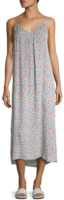 Vince Printed Silk Slip Dress