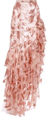 Rodarte Sequin Ruffled Skirt