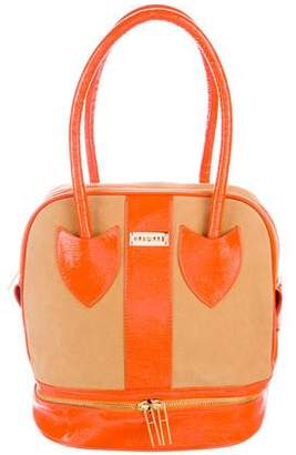 Hayward Patent Leather-Trimmed Tote
