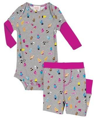 Munki Munki Romper & Pants, 2-piece Pajama Set (Baby Girls)