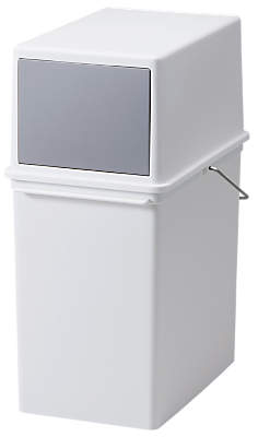 like-it Stackable Waste Bin, White, 17L