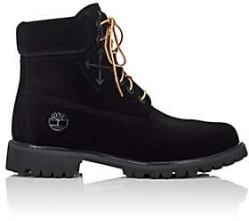 Off-White Men's Velveteen 6-Inch Boots-Black