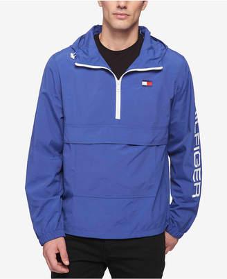 Tommy Hilfiger Men Hooded Half-Zip Jacket