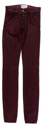 Current/Elliott Coated Low-Rise Jeans