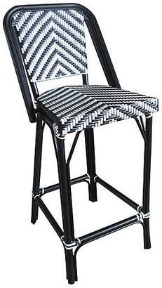 Tiab Inc. Bistro Outdoor Barstool - Black/White