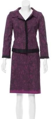 Alberta Ferretti Printed Skirt Suit