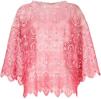 Ermanno Scervino wide sleeve crochet blouse