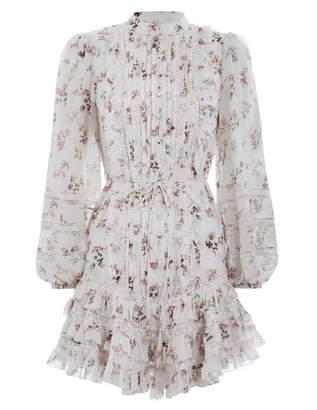 Zimmermann Whitewave Pin Tuck Mini Dress
