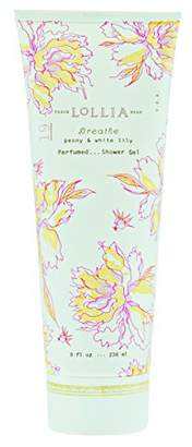 Lollia (ロリア) - ロリア(LoLLIA) パフュームドシャワージェル Breath 236ml(全身用洗浄料 ボディーソープ ピオニーとホワイトリリーの甘くさわやかな香り)