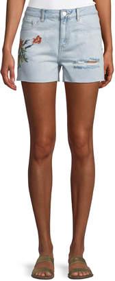 Dex Embroidered Denim Shorts