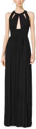 Michael Kors Cutout Matte-Jersey Halter Gown