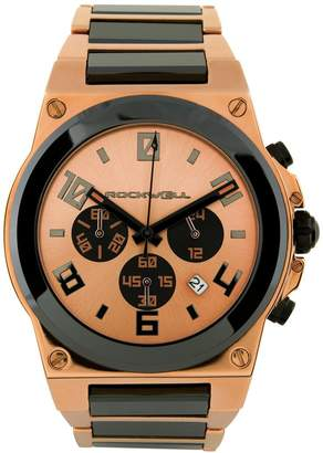 Rockwell Time CME-108 Men's Commander Elite Rose Gold Plated Stainless Steel with Ceramic Accents Watch