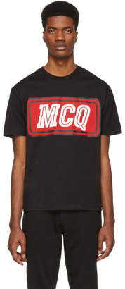 McQ Black Varsity Badge T-Shirt