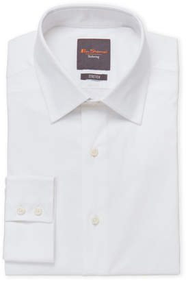 Ben Sherman White Slim Stretch Dress Shirt
