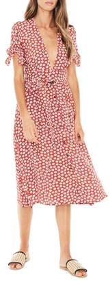 Faithfull The Brand Nina Tie Cuff Midi Dress