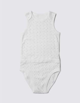 Marks and Spencer Unisex Pure Cotton Bodysuit (3-8 Years)