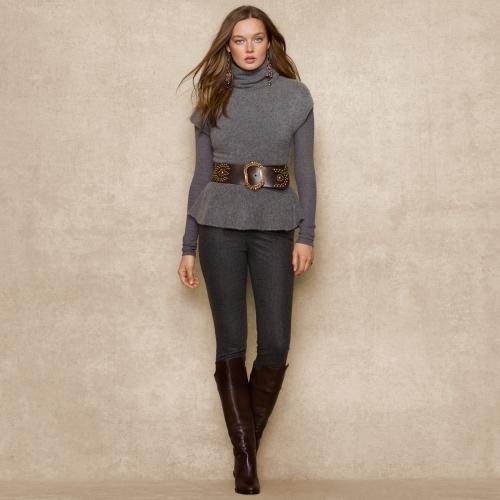 Ralph Lauren Blue Label Cashmere Peplum Sweater
