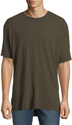 Joe's Jeans Men's Harvey Crewneck Oversized Tee, Olive