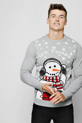 boohoo Ice Tunes Christmas Jumper