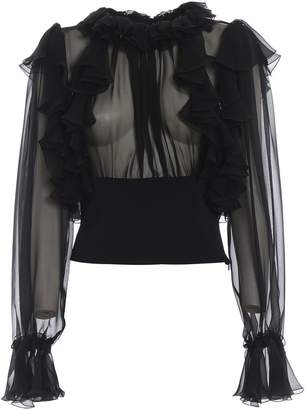Dolce & Gabbana Ruffled Sleeve Blouse