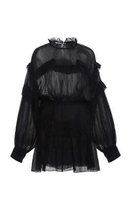 Isabel Marant Maeva Ruffled Cotton-Voile Mini Dress