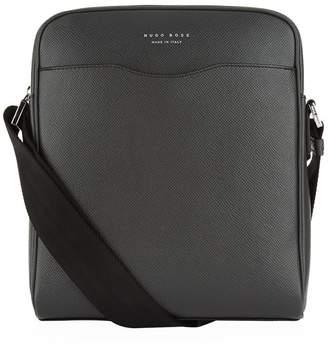 HUGO BOSS Leather Cross-Body Messenger Bag