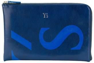 Y's logo plaque wallet