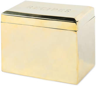 Sir/Madam Bevelled Recipe Box - Brass