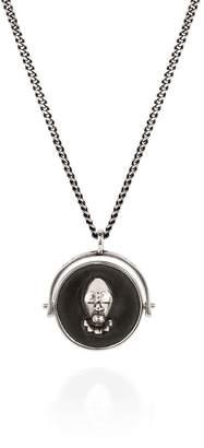 Lee Renee Voodoo Orunla & Snake Spinner Necklace Silver