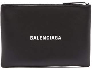 Balenciaga Everyday M Leather Pouch - Mens - Black Multi