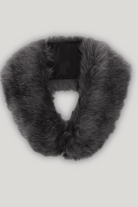Orelia Grey Fur Stole Collar