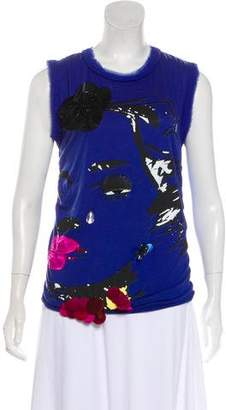 Lanvin Sleeveless Printed Top