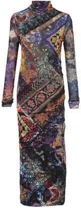 Fuzzi long fitted dress