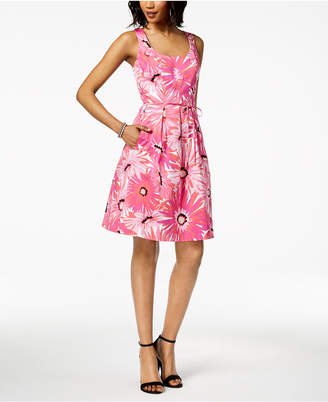 Pappagallo Cotton Floral-Print Fit & Flare Dress