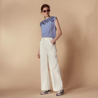 Sandro Flared trousers