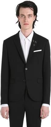 Neil Barrett Wool Tricot Jacket W/ Bolt Pins