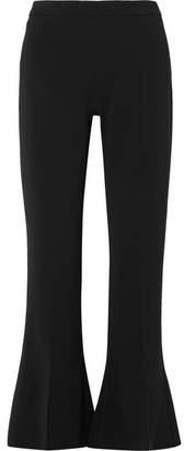 Antonio Berardi Cropped Stretch-cady Flared Pants - Black