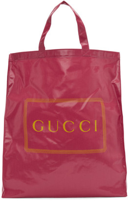 Gucci Pink Medium Logo Tote