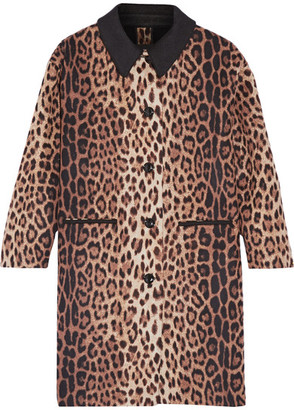 Boutique Moschino - Leopard-print Wool-blend Coat - Leopard print $1,450 thestylecure.com