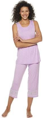 Croft & Barrow Women's Smocked 2-Piece Pajama Set