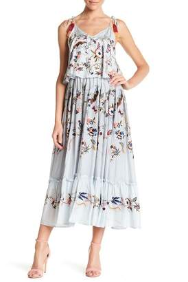 Let Me Be Love Knot Silk Maxi Dress