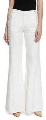 Alexis Donna Linen Flare Pants, White $427 thestylecure.com
