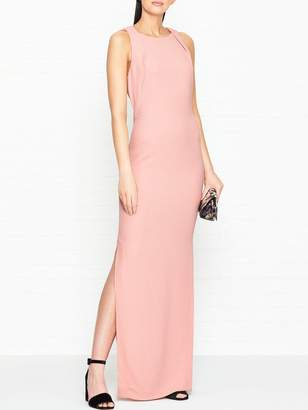 Whistles Tie Back Maxi Dress - Pink