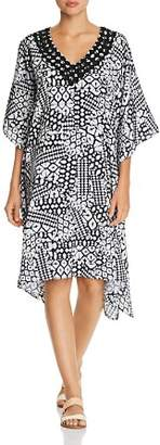 Gottex Profile by Embroidered V-Neck Caftan Swim Cover-Up