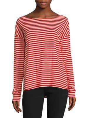 Current/Elliott Breton Long-Sleeve Cotton Tee