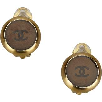 Chanel Vintage Brown Metal Earrings