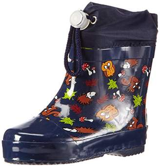 Playshoes Kids' Rubber Forest Animals Lined Rain Boots,4 Child UK